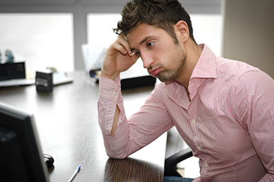 man frustrated with team communication