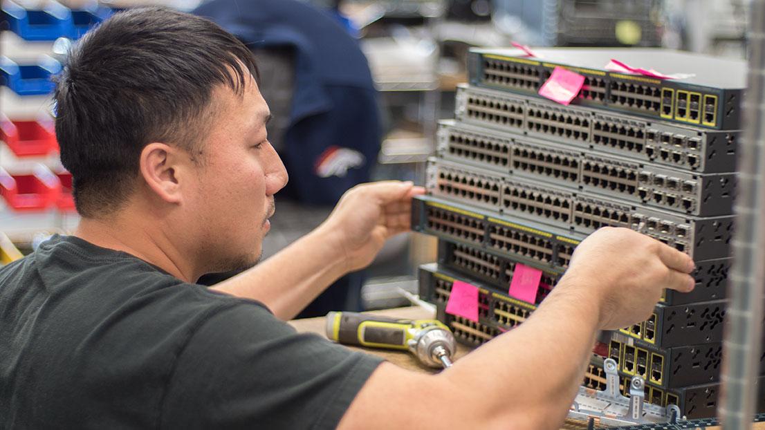 Cisco Certified Network Associate working on project